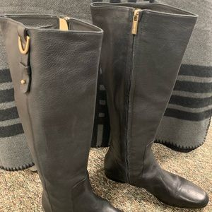 Jimmy Choo tall leather riding boots, size 40.